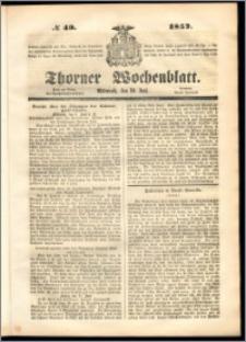 Thorner Wochenblatt 1852, No. 49