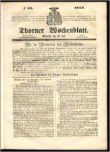 Thorner Wochenblatt 1852, No. 53 + Beilage