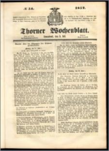 Thorner Wochenblatt 1852, No. 54