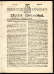 Thorner Wochenblatt 1852, No. 55