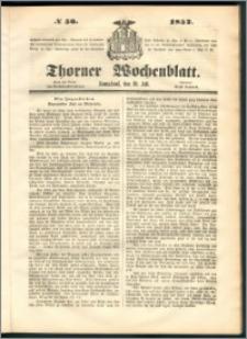 Thorner Wochenblatt 1852, No. 56
