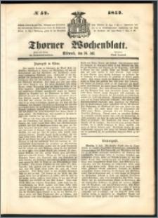 Thorner Wochenblatt 1852, No. 57