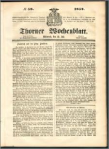 Thorner Wochenblatt 1852, No. 59