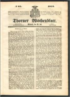 Thorner Wochenblatt 1852, No. 61