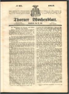 Thorner Wochenblatt 1852, No. 62