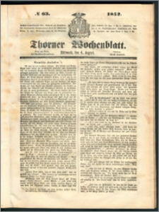 Thorner Wochenblatt 1852, No. 63