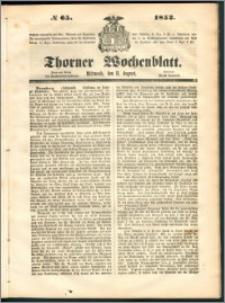 Thorner Wochenblatt 1852, No. 65