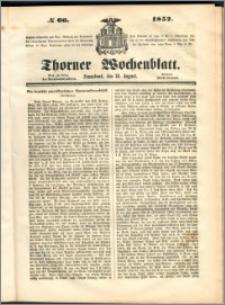 Thorner Wochenblatt 1852, No. 66