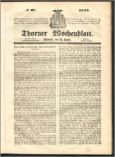 Thorner Wochenblatt 1852, No. 67