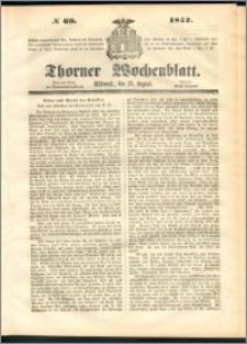 Thorner Wochenblatt 1852, No. 69