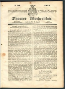 Thorner Wochenblatt 1852, No. 70