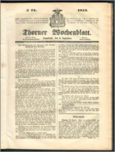 Thorner Wochenblatt 1852, No. 72
