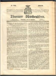 Thorner Wochenblatt 1852, No. 74