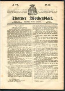 Thorner Wochenblatt 1852, No. 76
