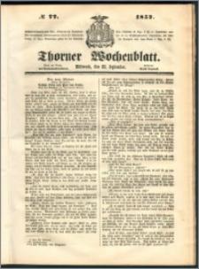 Thorner Wochenblatt 1852, No. 77