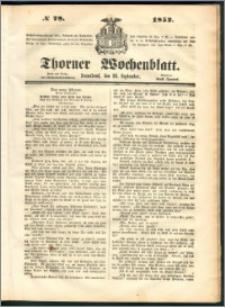 Thorner Wochenblatt 1852, No. 78