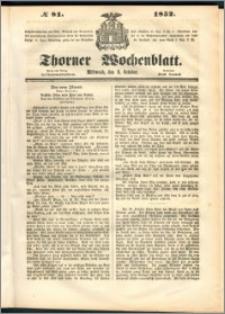 Thorner Wochenblatt 1852, No. 81