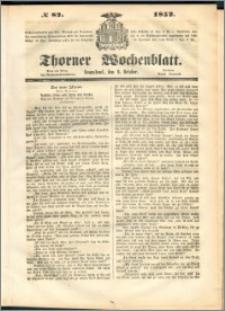 Thorner Wochenblatt 1852, No. 82
