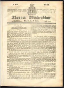 Thorner Wochenblatt 1852, No. 83
