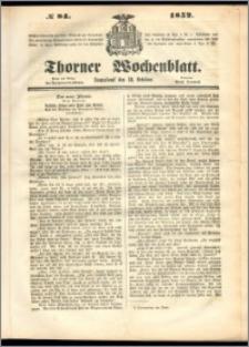Thorner Wochenblatt 1852, No. 84