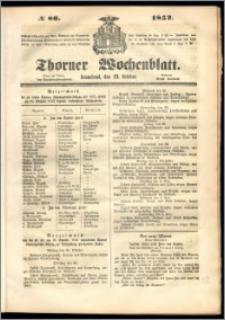 Thorner Wochenblatt 1852, No. 86 + Beilage