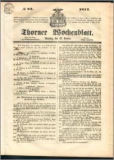 Thorner Wochenblatt 1852, No. 87
