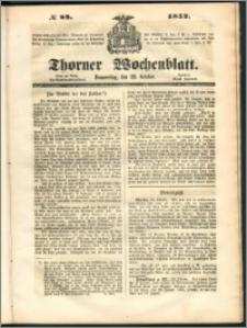 Thorner Wochenblatt 1852, No. 88