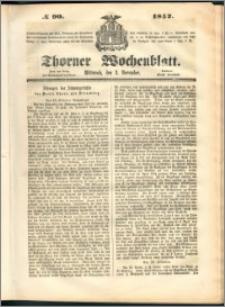 Thorner Wochenblatt 1852, No. 90