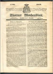Thorner Wochenblatt 1852, No. 91