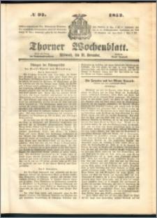 Thorner Wochenblatt 1852, No. 92