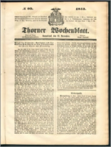 Thorner Wochenblatt 1852, No. 93