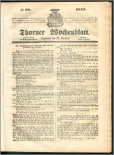 Thorner Wochenblatt 1852, No. 97