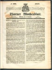 Thorner Wochenblatt 1852, No. 100 + Beilage