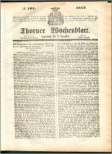 Thorner Wochenblatt 1852, No. 101 + Beilage