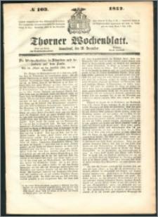 Thorner Wochenblatt 1852, No. 103 + Beilage
