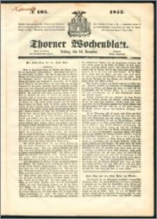 Thorner Wochenblatt 1852, No. 105