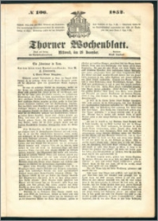 Thorner Wochenblatt 1852, No. 106