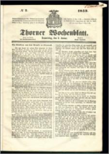 Thorner Wochenblatt 1853, No. 2
