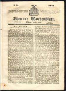 Thorner Wochenblatt 1853, No. 6