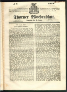 Thorner Wochenblatt 1853, No. 7