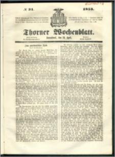 Thorner Wochenblatt 1853, No. 31