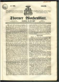 Thorner Wochenblatt 1853, No. 33 + Extra Beilage