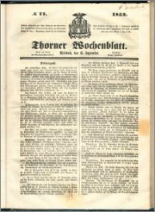 Thorner Wochenblatt 1853, No. 77