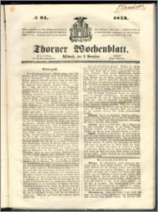 Thorner Wochenblatt 1853, No. 91 + Extra Beilage