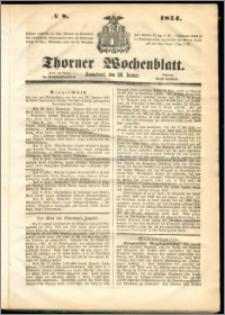 Thorner Wochenblatt 1854, No. 8