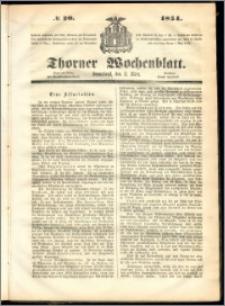 Thorner Wochenblatt 1854, No. 20