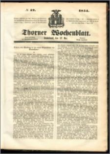 Thorner Wochenblatt 1854, No. 42