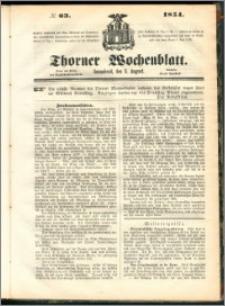 Thorner Wochenblatt 1854, No. 63