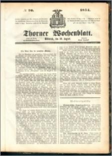 Thorner Wochenblatt 1854, No. 70