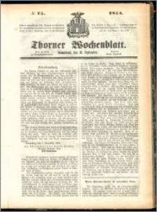 Thorner Wochenblatt 1854, No. 75